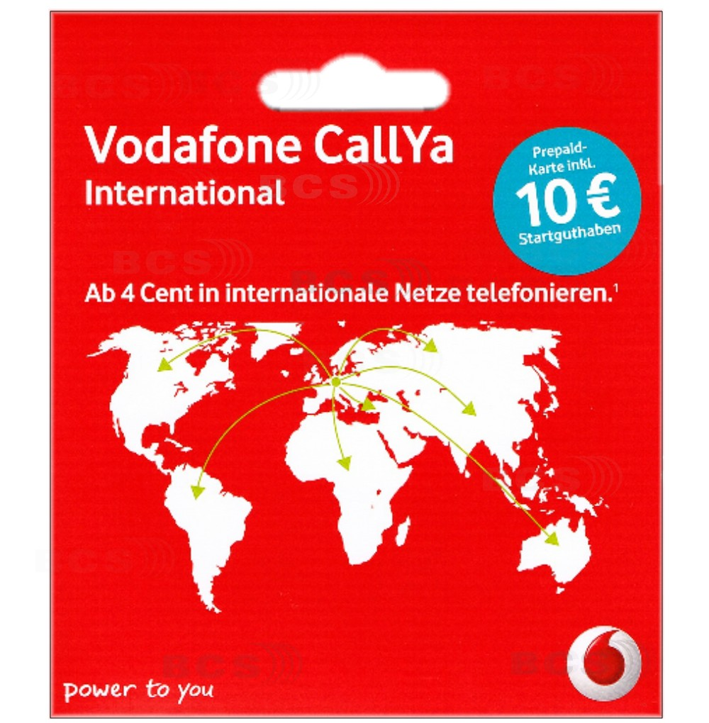 vodafone international 10 guthaben callya prepaid handy sim karte d2 call ya ebay. Black Bedroom Furniture Sets. Home Design Ideas