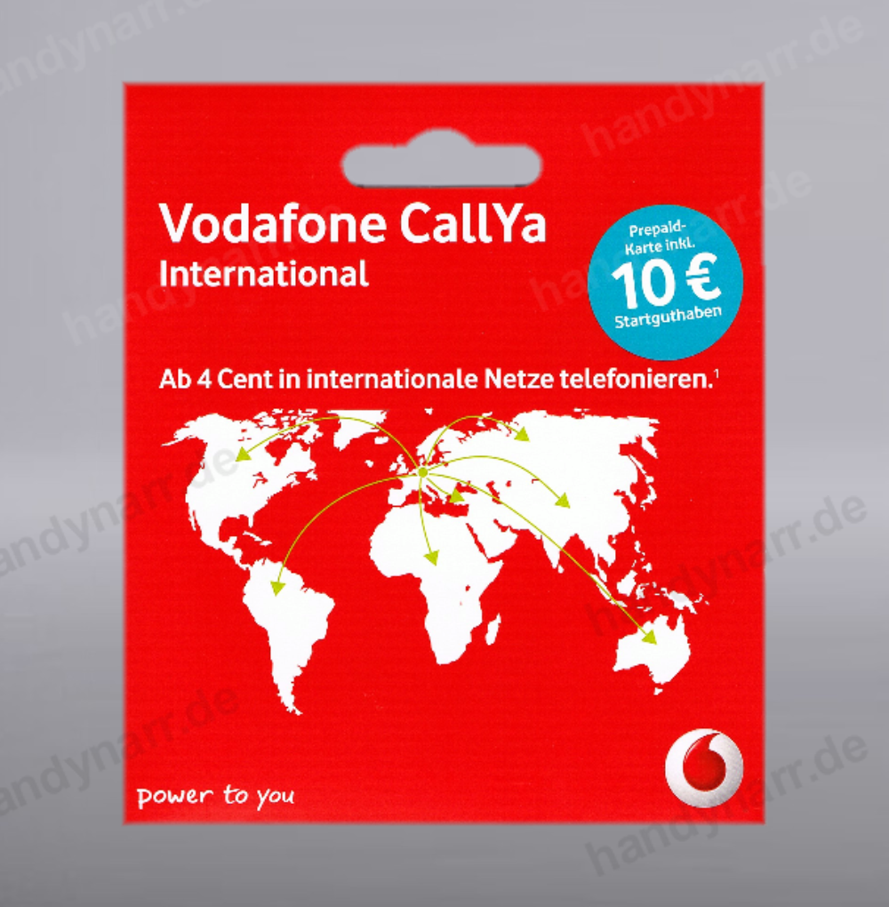 10 guthaben vodafone international d2 prepaid handy sim karte callya call card ebay. Black Bedroom Furniture Sets. Home Design Ideas