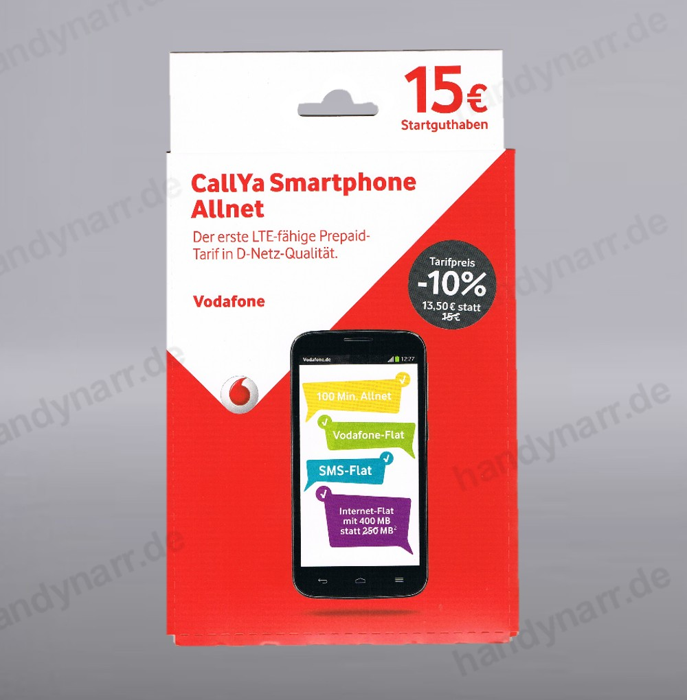 vodafone smartphone allnet 15 guthaben callya prepaid handy d2 call sim karte ebay. Black Bedroom Furniture Sets. Home Design Ideas