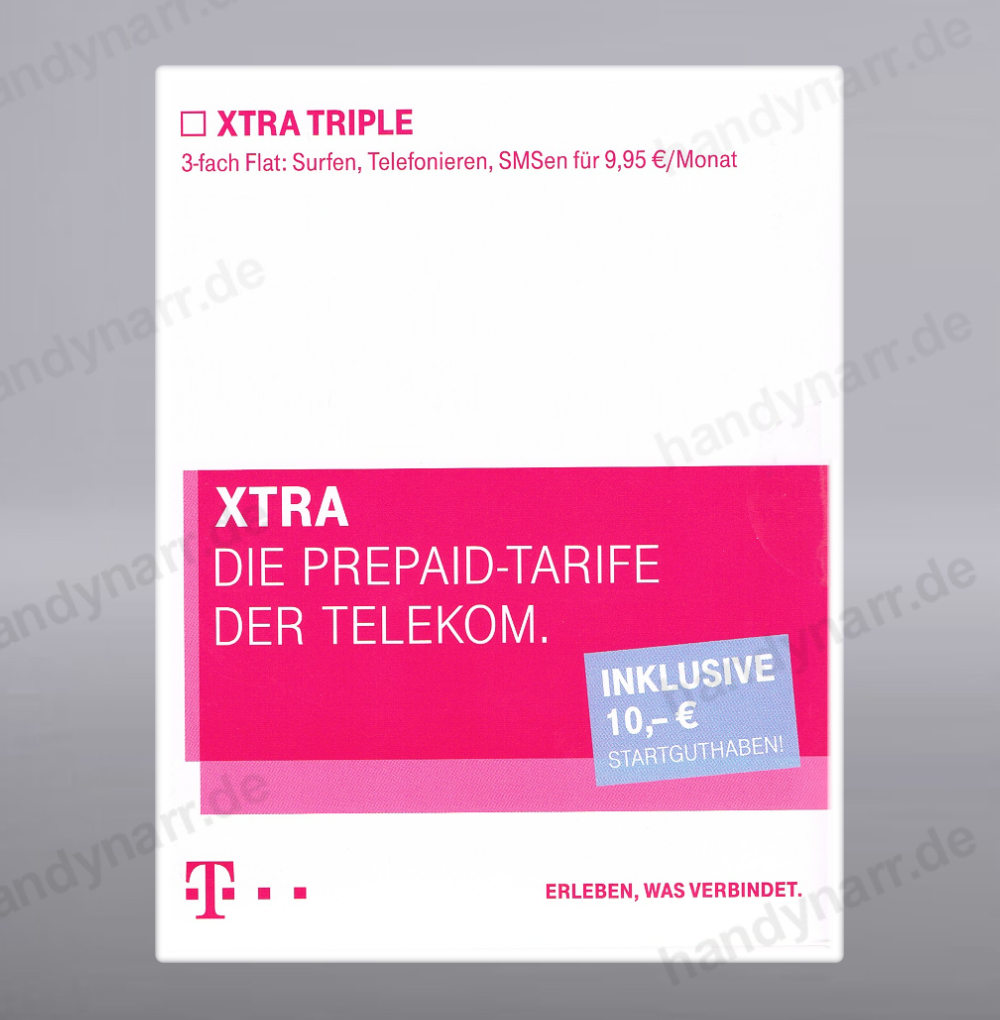 guthaben 10 prepaid handy sim karte triple flat d1 telekom card t mobile xtra ebay. Black Bedroom Furniture Sets. Home Design Ideas